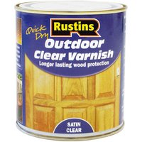 Rustins EAVS2500 Quick Drying Outdoor Clear Varnish Satin 2.5 Litre
