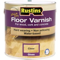 Rustins AFCG2500 Quick Dry Floor Varnish Gloss 2.5 Litre