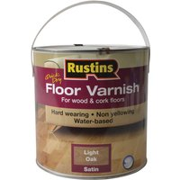 Rustins AFLO2500 Quick Dry Coloured Floor Varnish Light Oak 2.5 Litre