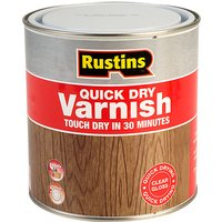 Rustins AVGC1000 Quick Dry Varnish Gloss Clear 1 Litre