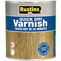 Rustins VSOA250 Quick Dry Varnish Satin Oak 250ml