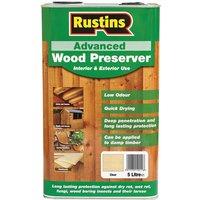 Rustins AWCL5000 Advanced Wood Preserver Clear 5 Litre