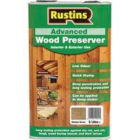 Rustins AWMB5000 Advanced Wood Preserver Medium Brown 5 Litre