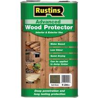 Rustins AWDB5000 Advanced Wood Preserver Dark Brown 5 Litre