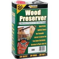 Everbuild LJCR05 Wood Preserver Clear 5 Litre