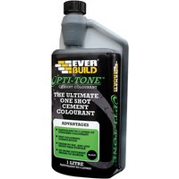 Everbuild OPTITONEBK1 Opti-Mix Cement Colourant Black 1 Litre