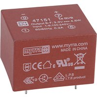 Myrra 47151 4.5W 3.3V AC-DC Power Supply Single Output