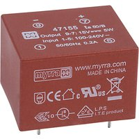 Myrra 47155 5W 15V AC-DC Power Supply Single Output
