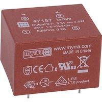 Myrra 47157 4.5W 3.8V AC-DC Power Supply Single Output