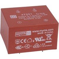 Myrra 47201 7.5W 9V AC-DC Power Supply Single Output