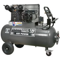Sealey SAC3153B Compressor 150ltr Belt Drive 3hp with Front Contro...