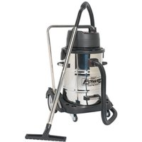 Sealey PC477 Industrial Wet andamp; Dry Vacuum Cleaner 77ltr Stainless D...