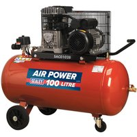 Sealey SAC0102B Compressor 100ltr Belt Drive 2hp with Cast