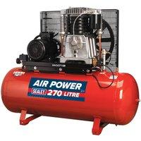 Sealey SAC62710B Compressor 270ltr Belt Drive 10hp 3ph 2-Sta