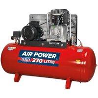 Sealey SAC52775B Compressor 270ltr Belt Drive 7.5hp 3ph 2-St
