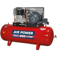 Sealey SAC42055B Compressor 200ltr Belt Drive 5.5hp 3ph 2-Stage - ...