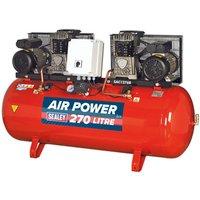 Sealey SAC1276B Compressor 270ltr Belt Drive 2 x 3hp with Ca