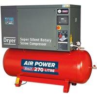 Sealey SSC12710D Screw Compressor 270ltr 10hp 3ph Low Noise