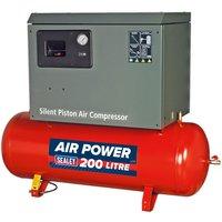 Sealey SAC2203BLN Compressor 200ltr Belt Drive 3hp with Cast Cylin...