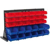 Sealey TPS1218 Bin Storage System Bench Mounting 30 Bins