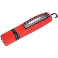 Sealey LED360R Cordless 360° LED Rechargeable Inspection Lamp Red ...
