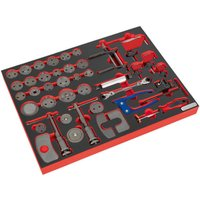 Sealey TBTP10 Tool Tray with Brake Service Tool Set 42pc