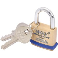 Draper 64160 30mm Solid Brass Padlock and 2 Keys By RapidOnline-RapidElectronicsLtd.