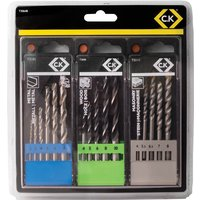 CK Tools T3064B Masonry/Metal/Wood Drill Bit Set of 16