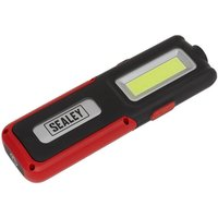 Sealey LED318R Rechargeable Inspection Lamp Red 5W COB + 3W LED + ...
