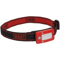 Sealey LED360HTR Rechargeable Head Torch 2W COB LED Auto Sensor Red