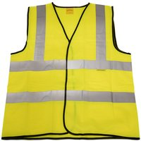 Worksafe 9804M Hi-Vis Waistcoat (Site and Road Use) Yellow - Medium