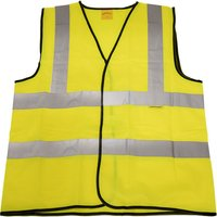 Worksafe 9804L Hi-Vis Waistcoat (Site and Road Use) Yellow - Large