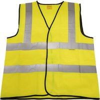 Worksafe 9804XL Hi-Vis Waistcoat (Site and Road Use) Yellow - X-Large