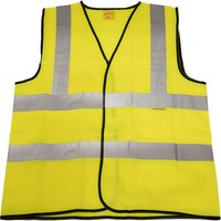 Worksafe 9804XXL Hi-Vis Waistcoat (Site and Road Use) Yellow - XX-...
