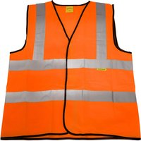 Worksafe 9812M Hi-Vis Orange Waistcoat (Site and Road Use) - Medium