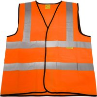 Worksafe 9812l Hi-Vis Orange Waistcoat (Site and Road Use) - Large
