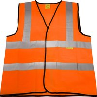 Worksafe 9812XL Hi-Vis Orange Waistcoat (Site and Road Use) - X-Large