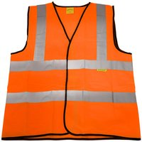 Worksafe 9812XXL Hi-Vis Orange Waistcoat (Site and Road Use) - XXLarge