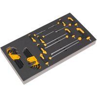 Siegen S01135 Tool Tray with T-Handle andamp; Standard TRX-Star* Key Set...