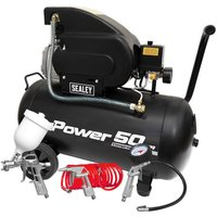 Sealey SAC5020APK Compressor 50L Direct Drive 2hp with 4pc