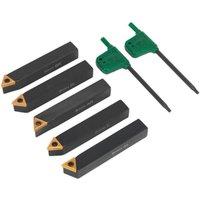 Sealey SM3025CS2 Indexable 8mm Lathe Turning Tool Set 5pc