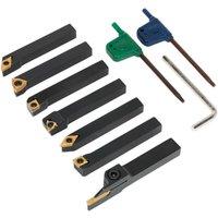 Sealey SM3025CS6 Indexable 10mm Lathe Turning Tool Set 7pc