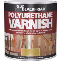 Blackfriar BF0230002F1 Polyurethane Varnish P100 Clear Satin 250ml