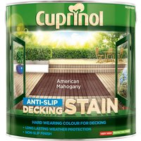 Cuprinol 5092615 Anti-Slip Decking Stain American Mahogany 2.5 litre