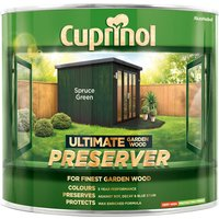 Cuprinol 5206082 Ultimate Garden Wood Preserver Spruce Green 1 litre