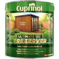 Cuprinol 5206088 Ultimate Garden Wood Preserver Golden Cedar 4 litre