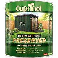 Cuprinol 5206121 Ultimate Garden Wood Preserver Spruce Green 4 litre