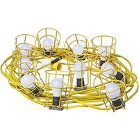 Faithfull Power Plus HL-03ES-22 Festoon Lights 10 ES Bulbs 110V 22m
