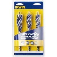 IRWIN® 10506627 Blue Groove 6X Wood Drill Bit Set, 3 Piece 20-25mm