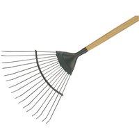 Kent andamp; Stowe 70100262 Carbon Steel Long Handled Lawn andamp; Leaf Rake, FSC®
